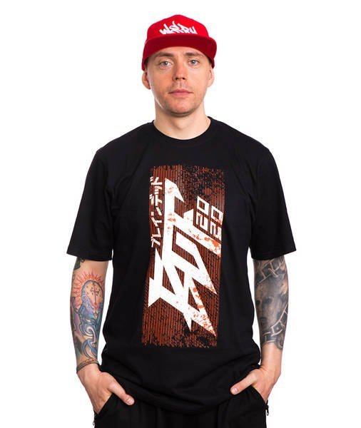 Brain Dead Familia RUST LOGO T-Shirt Czarny