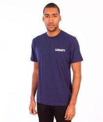 Carhartt-College Script LT T-Shirt Blue/White