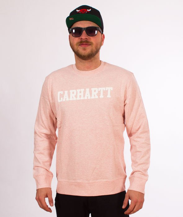Carhartt-College Sweatshirt Sandy Rose Heather/White