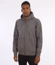 Carhartt-Hooded Chase Jacket Dark Grey Heather