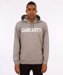 Carhartt-Hooded College Sweat Bluza Kaptur Grey Heather/White