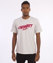Carhartt-Painted Script T-Shirt Ash Heather/Rosehip