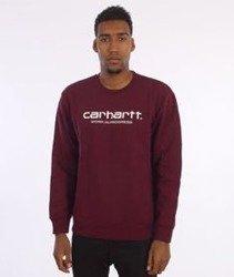 Carhartt-Wip Script Sweat Chianti/White