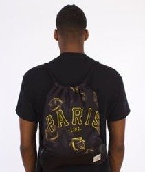 Cayler & Sons-Paris Jaune Gym Bag Black/Yellow