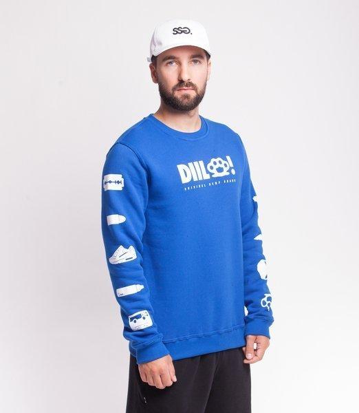 DIIL TRANSPARENT Bluza bez Kaptura Niebieski