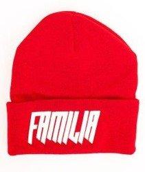 Familia Wear-Logo Czapka Zimowa Czerwona