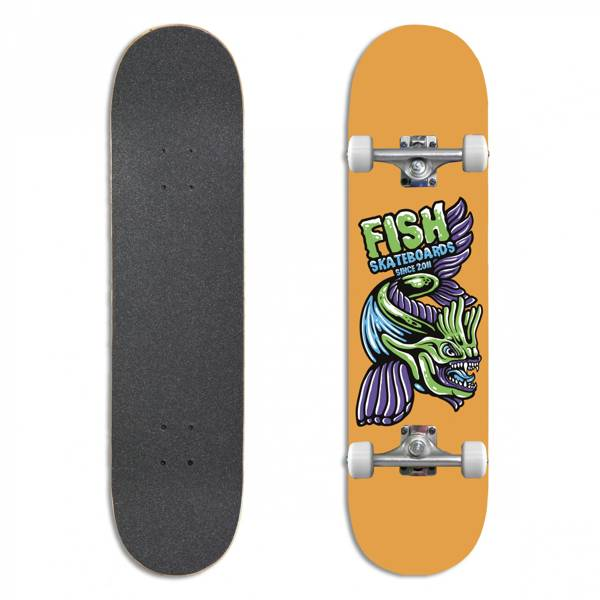 Fish Skateboards Deskorolka Kompletna BEGINNER MASON 8.0