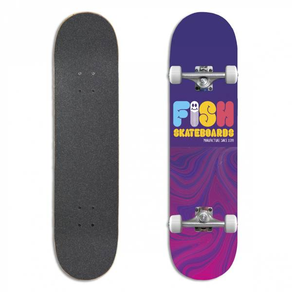 Fish Skateboards Deskorolka Kompletna WORM 8.0