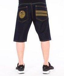Mass-Legendary Spodnie Krótkie Jeans Dark Blue