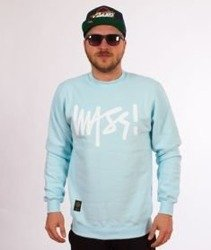 Mass-Signature Crewneck Bluza Light Blue