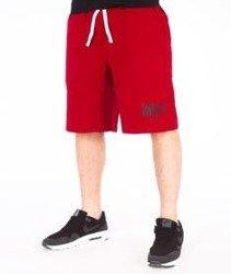 Mass-Signature Handmade Spodnie Dresowe Krótkie Bordowe