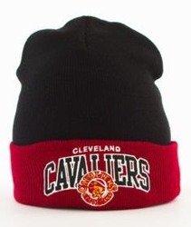 Mitchell & Ness-Cleveland Cavaliers Arched Cuff Knit Czapka Zimowa Czarna
