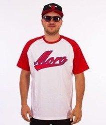 Moro Sport-Baseball Academic T-Shirt Biały/Czerwony