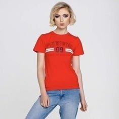 Patriotic P 09T-Shirt Damski Czerwony