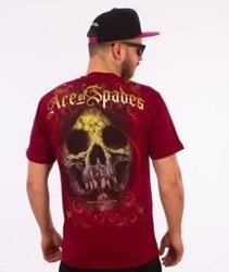 Pit Bull West Coast-Ace Of Spades T-Shirt Bordowy