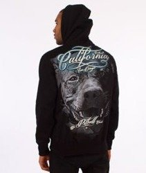 Pit Bull West Coast-California Dog Hoodie Bluza Kaptur Czarny