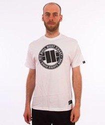 Pit Bull West Coast-Chest Logo T-Shirt White