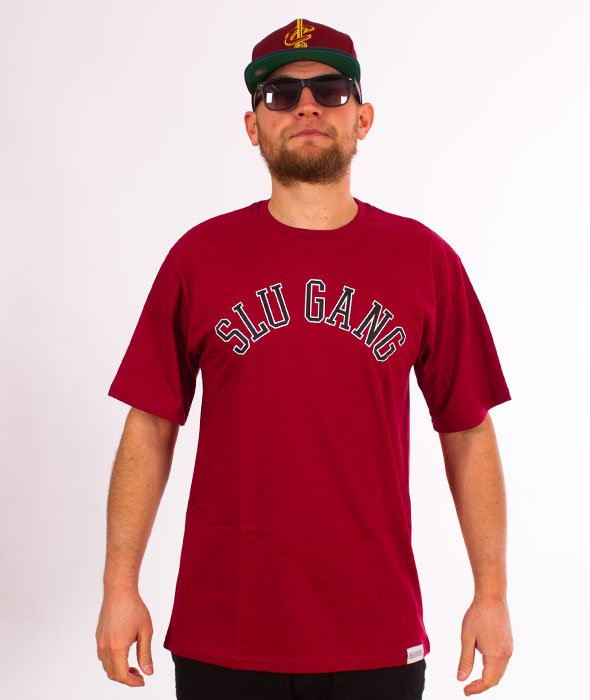RPS KLASYKA-SLU GANG College T-Shirt Bordo
