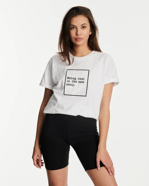 SSG Girls BEING REAL T-Shirt Biały