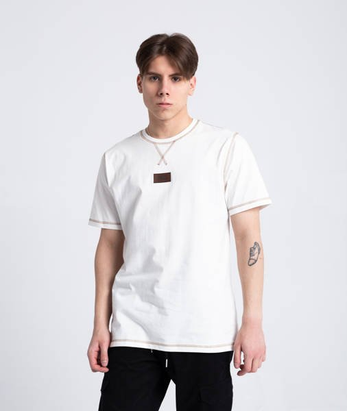 Smoke Story RENDER T-Shirt Biały Śmietankowy