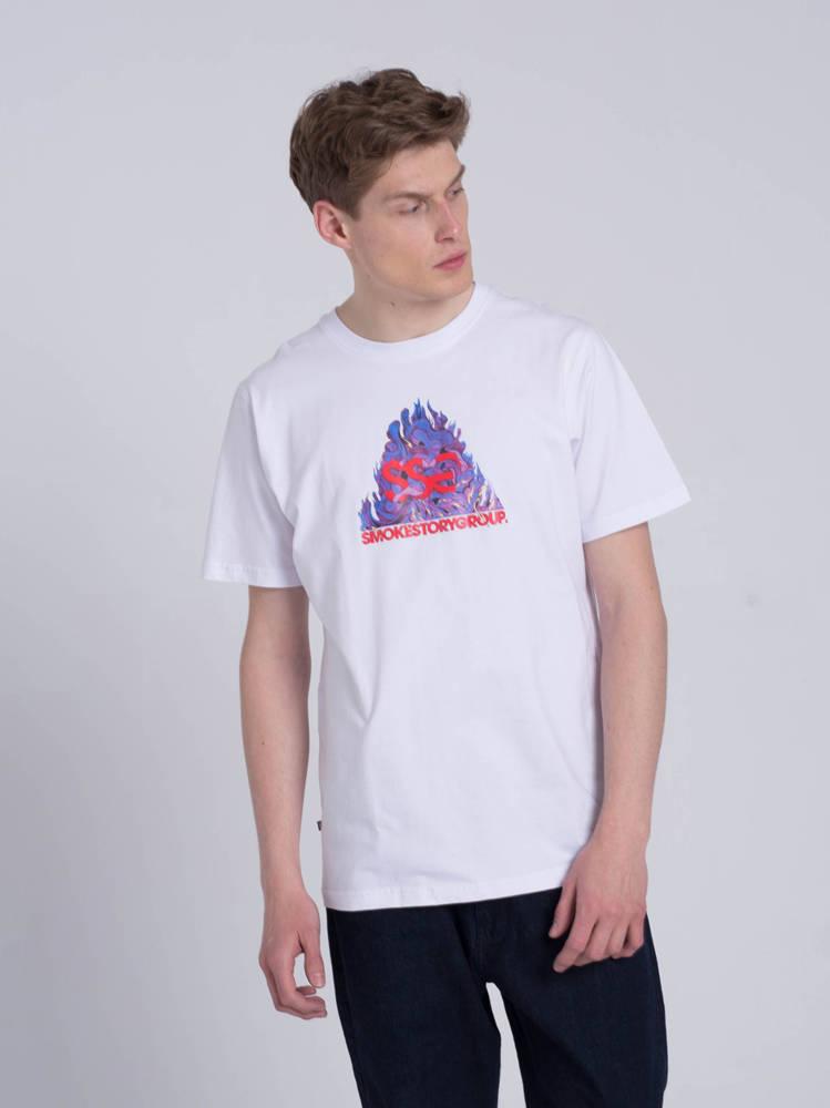 Smoke Story SSG FIRE T-Shirt Biały