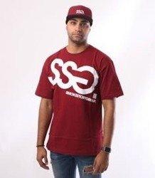 SmokeStory-Big T-Shirt Bordowy