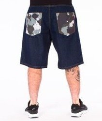 SmokeStory-Moro Pocket Jeans Krótkie Spodnie Dark Blue