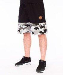 SmokeStory-Moro Wstawki Premium Krótkie Spodnie Dresowe Czarne/Szare/Camo