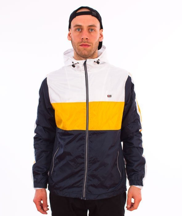 Southpole-Wind Series Jacket Color Block Windbreaker Kurtka Wiatrówka Navy