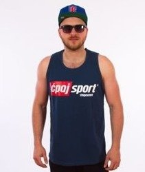 Stoprocent-CS17 Tank Top Granatowy