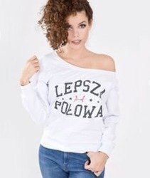 Stoprocent-Lepsza Połowa Bluza Damska Biała