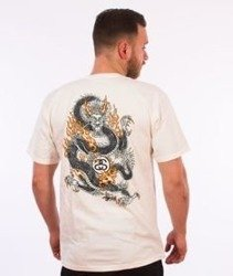 Stussy-Fire Dragon Pig. Dyed T-Shirt Natural