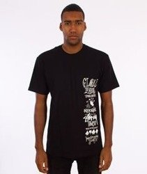 Stussy-Global Gathering T-Shirt Czarny