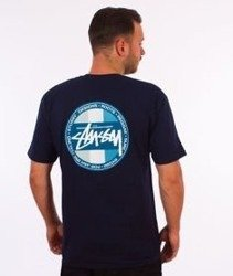 Stussy-Reggae Surf Dot T-Shirt Navy