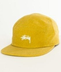 Stussy-Washed Oxford Canvas Camp Cap Czapka Mustard
