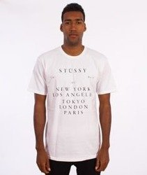 Stussy-World Touring T-Shirt Biały