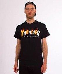 Thrasher-Flame Mag T-Shirt Czarny