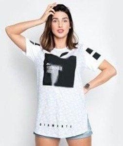 Diamante-Mrs Forbidden Fruit T-shirt Damski Biały