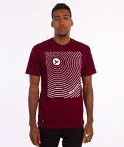 Nervous-Hole T-Shirt Bordowy