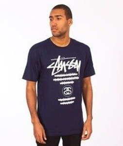 Stussy-WT Taped Tee Navy