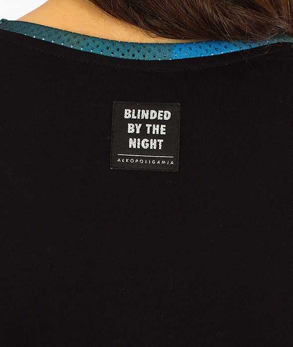 Alkopoligamia-Blinded Queen T-Shirt Damski Czarny