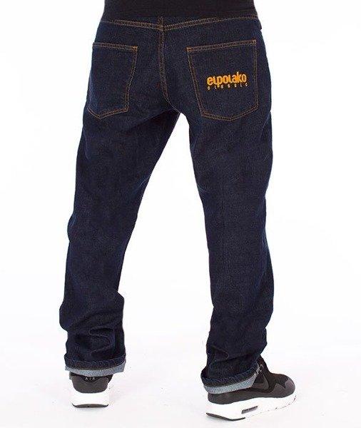 najlepsze buty oficjalne zdjęcia popularne sklepy El Polako-Classic Slim Jeans Spodnie Dark Blue