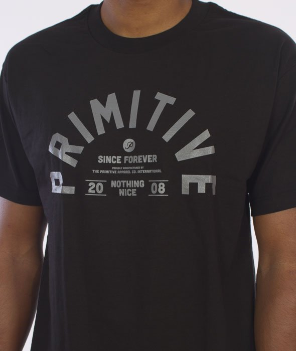 Primitive-Certified T-Shirt Czarny