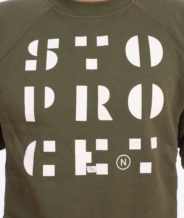 Stoprocent-Stencil Bluza Khaki
