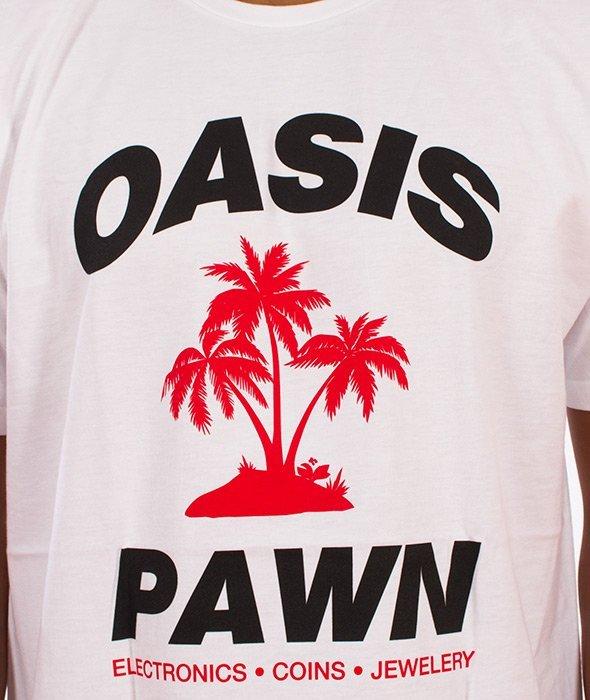 Stussy-Oasis Pawn T-Shirt Biały