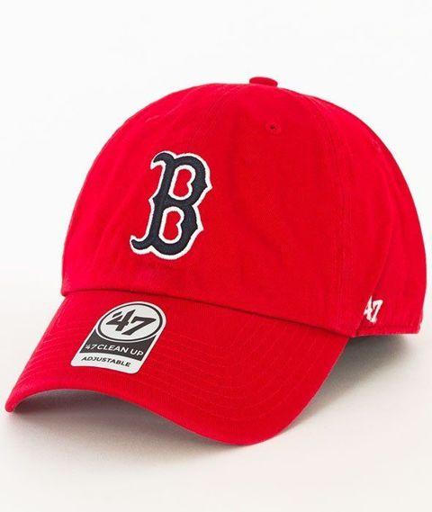 47 Brand-Clean Up Boston Red Sox Czapka z Daszkiem Czerwona