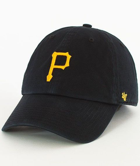 47 Brand-Clean Up Pittsburgh Pirates Czapka z Daszkiem Czarna