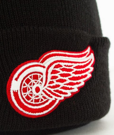 47 Brand-Detroit Red Wings Cuff Knit Czapka Zimowa Czarna