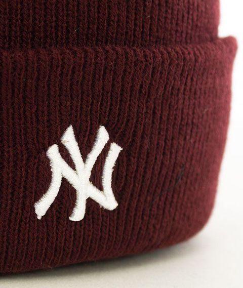 47 Brand-New York Yankees Centerfield Czapka Zimowa Bordo