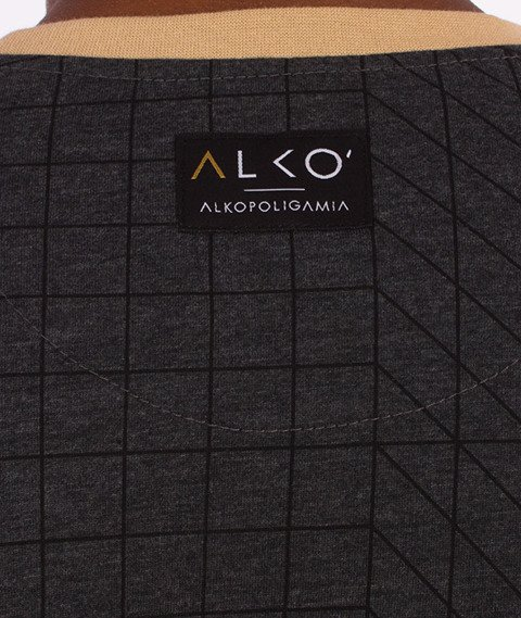 Alkopoligamia-ΔLKO' Pattern T-Shirt Beżowy